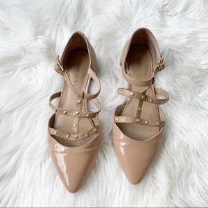 Sole Society Gladiator Nude Flats Size 6.5